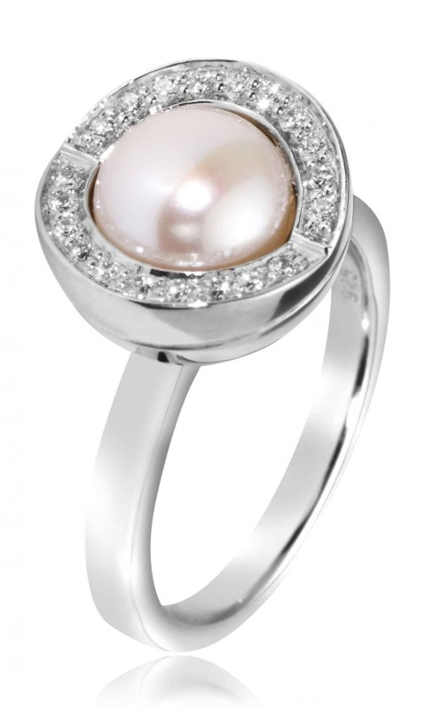Outlet Joy de la Luz Zoetwaterparel Ring JCR157 / maat 19