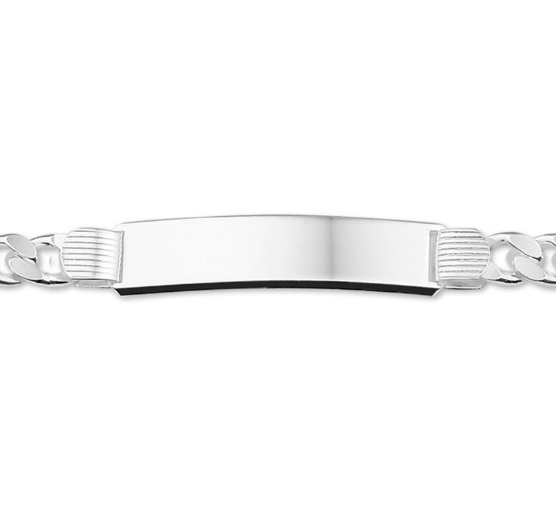 Gourmet Plaat 10 mm Graveer Armband voor Heren 21 cm