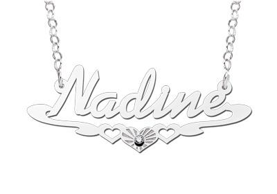 Names4ever Nadine Stijl Zilveren Naamketting