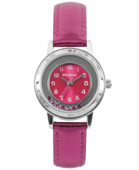 Dazzling Diamonds Felroze Kids Horloge met Felroze Horlogeband