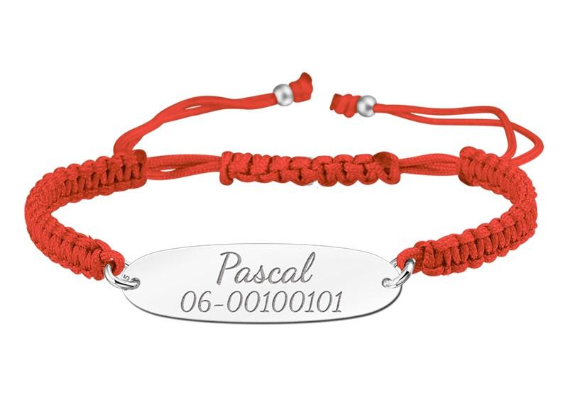 Rode Koordarmband met Naam/Nummer