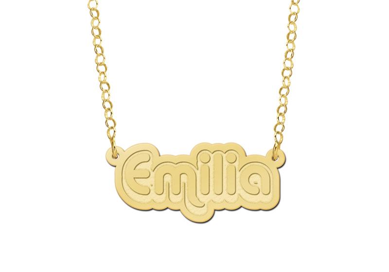 Gouden Emilia Naamketting   Names4ever