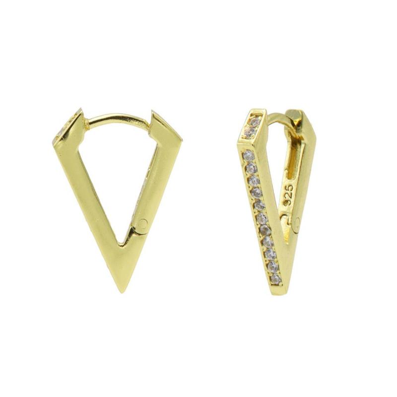 Hoops oorbellen met Kleurloze Zirkonia's | Karma Jewelry