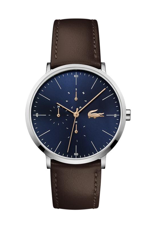 Lacoste Moon Heren Horloge met Bruin Lederen Horlogeband