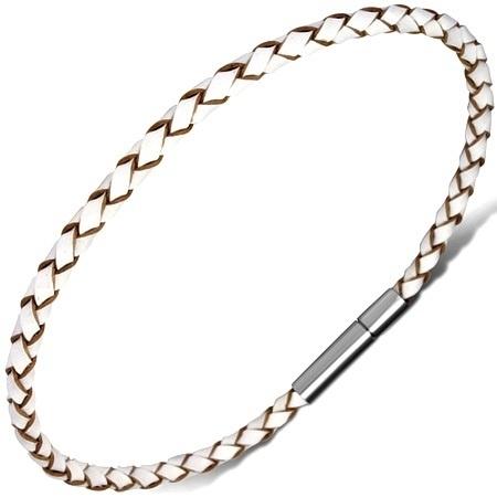 Wit/Bruin Leren Armband SKU81648
