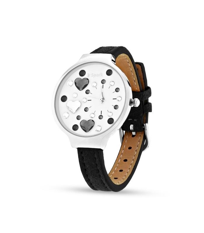 Heart Horloge van Spark met Zwarte Horlogeband