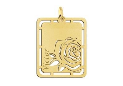 Roos Gouden Naamhanger Names4ever GNH59