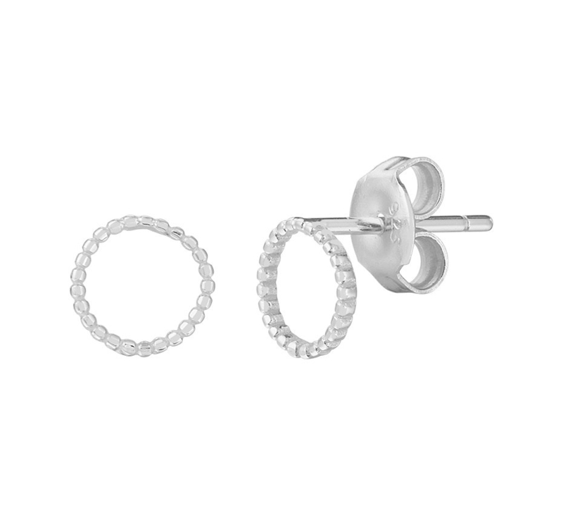 Opengewerkte Cirkel Oorknoppen van Zilver