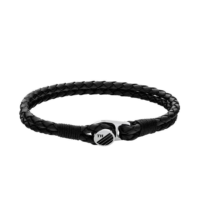 Gevlochten Zwart Lederen Heren Armband van Tommy Hilfiger TJ2790197S