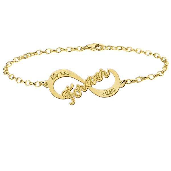 Forever Armband van Goud met Infinity Naamhanger > Names4ever