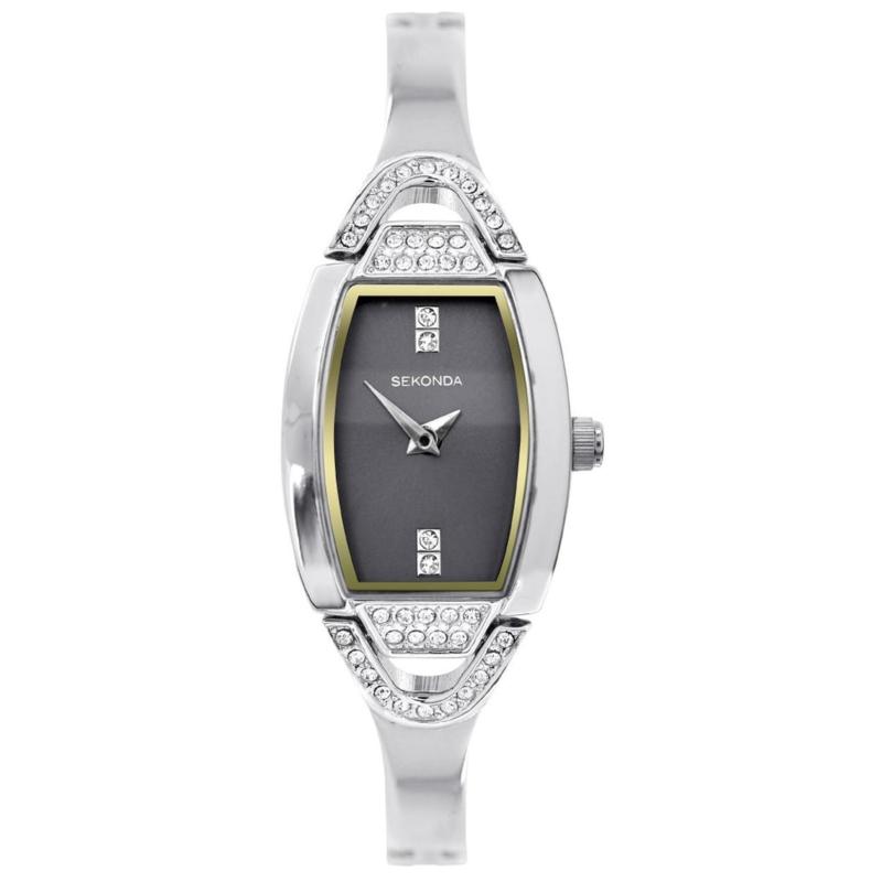Sekonda Zilverkleurig Dames Horloge met Goudkleurige Rand