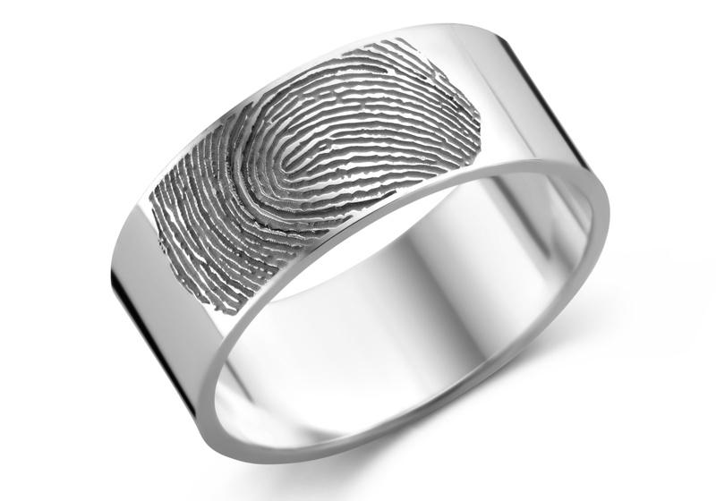 Ring met Vingerafdruk Zilver 8 mm Names4ever