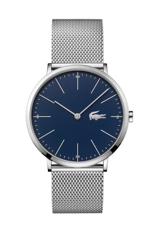 Lacoste Zilverkleurig Moon Heren Horloge met Milanese Schakelband