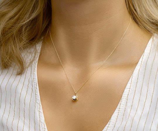 Ketting goud met parel | It's Beautiful Juwelier