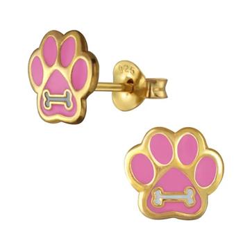Is je dochtertje dol op jullie hond? Geef haar deze prachtige goudkleurige kinderoorbellen cadeau op dierendag!