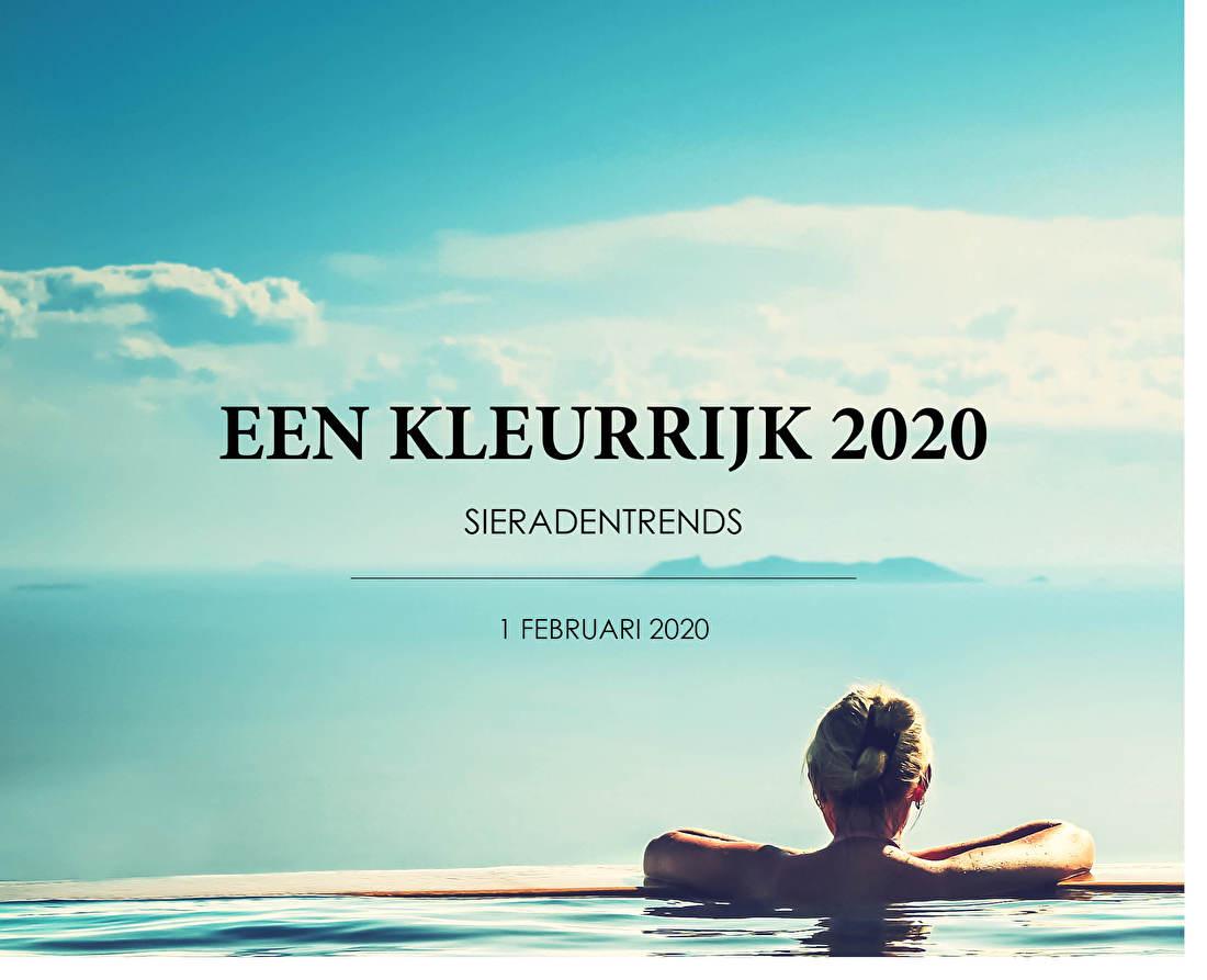 Een kleurrijk 2020 Sieradentrends