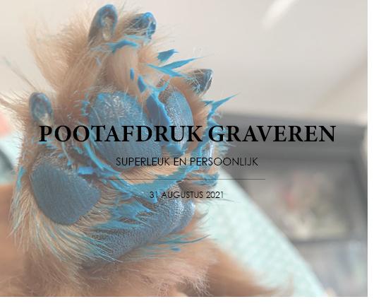 POOTAFDRUK GRAVEREN - SUPERLEUK EN PERSOONLIJK