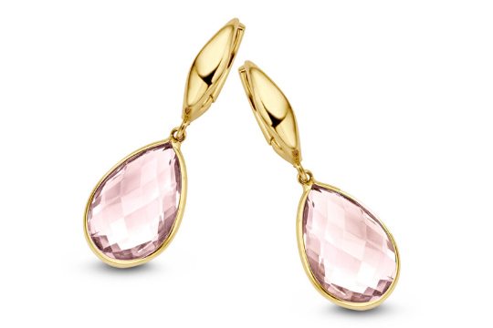 Gouden oorbellen met kleurstenen - It's Beautiful