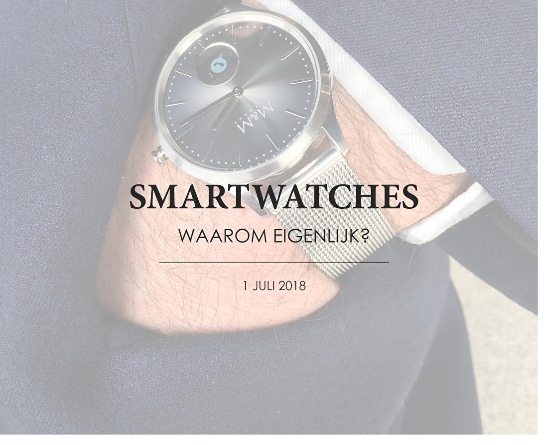 Wanneer je iets zoekt, waarop je de tijd kan aflezen en wat je kan gebruiken als vervanging van jouw smartphone voor op kantoor of in de sportschool: Wanneer je niet alleen maar een seintje wil ontvangen in het geval dat je een telefoontje, berichtje of notificatie op jouw smartphone krijg, maar ook een berichtje wil kunnen inspreken of een telefoontje wil aannemen dan kan een smartwatch iets voor jou zijn. Daarnaast zijn er meerdere voordelen die van pas kunnen komen bij het gebruiken van een Smartwatch. Zoals wanneer je op kantoor zit en merkt dat je een berichtje hebt gekregen. Op je telefoon kijken komt al snel ongeïnteresseerd over, maar als je even op je horloge kijkt valt dat nauwelijks op. Of wanneer je in een volle bus zit of staat en je wil een berichtje sturen naar een klasgenoot dat je wat later bent. Dan hoef je niet in je tas te gaan zoeken of in je broekzak naar je telefoon. Nee, je houdt gewoon je pols bij je mond en spreekt een berichtje in. Super gemakkelijk en snel. Ook bij het sporten is een Smartwatch nagenoeg onmisbaar. Hartslag bijhouden, stappen tellen en de route die je net hebt gelopen of gefietst; je Smartwatch doet het voor je. Je hoeft niet aan allerlei aparte apparaten te denken, want de smartwatch registreert en verzamelt deze gegevens automatisch. Dankzij diverse apps en updates blijf je goed bij de tijd. Het feit dat je gebruik maakt van een digitaal scherm en dat je jouw smartwatch iedere avond aan de lader moet leggen, is geen obstakel en staat in geen verhouding tot de vele voordelen die een smartwatch je levert. Gelukkig heeft deze technologie ook niet stilgestaan en worden de diverse smartwatches steeds moderner en praktischer. Toch blijven de Smartwatches qua stijl wel een beetje achter.