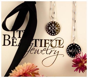 initialen ketting zilver - Juwelier It's Beautiful