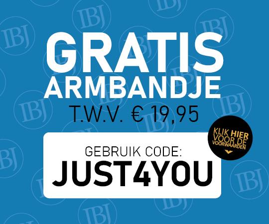 GRATIS ARMBANDJE T.W.V. € 19,95