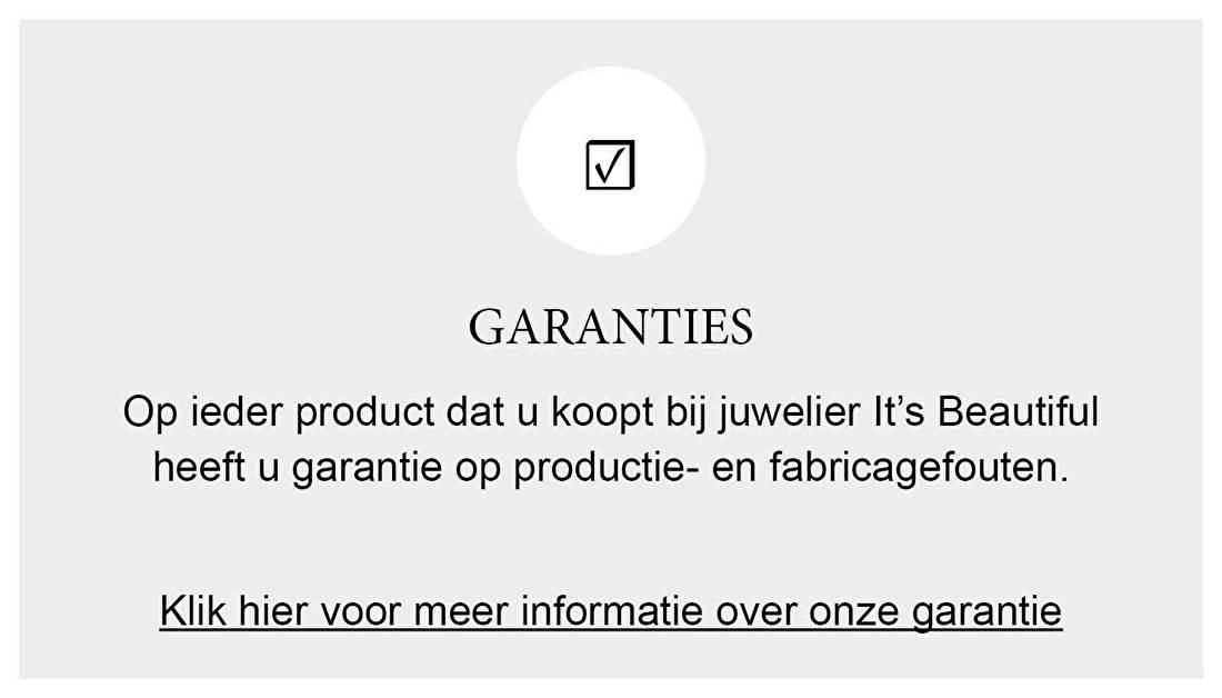 GARANTIES Op ieder product dat u koopt bij juwelier It's Beautiful heeft u garantie op productie- en fabricage fouten.