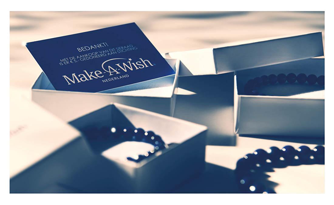 Make-A-Wish Nederland, dat voorheen bekend stond als de Doe een Wens Stichting Nederland, is een professionele vrijwilligersorganisatie die kinderen en jongeren met een levensbedreigende ziekte door het vervullen van de liefste wens de kracht geeft om weer kind te zijn. Juwelier It's Beautiful