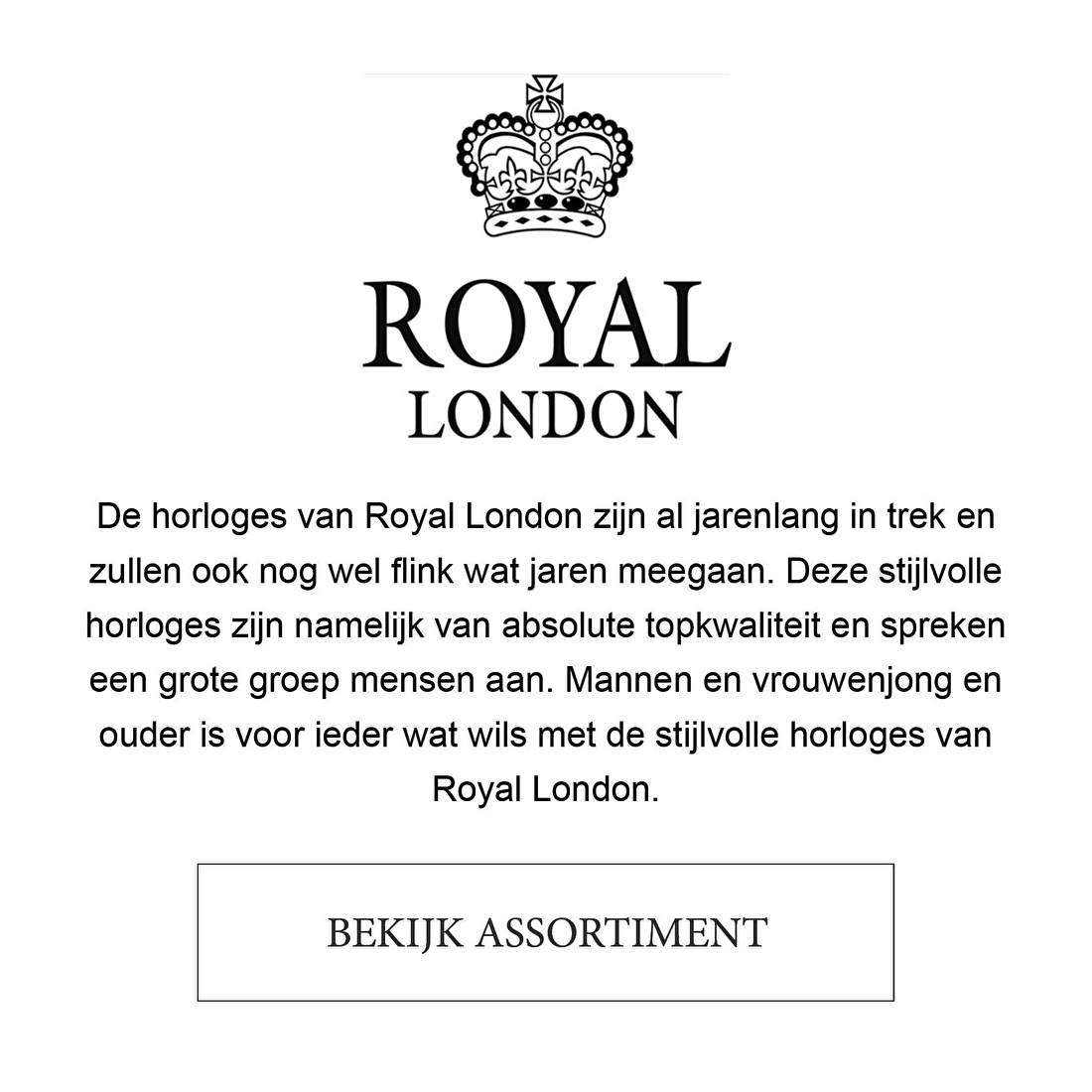 De horloges van Royal London zijn al jarenlang in trek en zullen ook nog wel flink wat jaren meegaan. Deze stijlvolle horloges zijn namelijk van absolute topkwaliteit en spreken een grote groep mensen aan. Mannen en vrouwenjong en ouder is voor ieder wat wils met de stijlvolle horloges van Royal London.