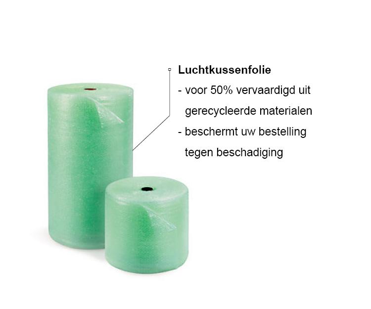 Milieubewust Juwelier It's Beautiful - Luchtkussenfolie - Voor 50% vervaardigd uit gerecycleerde materialen - Beschermt uw bestelling tegen beschadiging