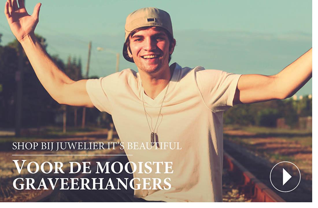 SHOP BIJ JUWELIER IT'S BEAUTIFUL VOOR DE MOOISTE GRAVEERHANGERS