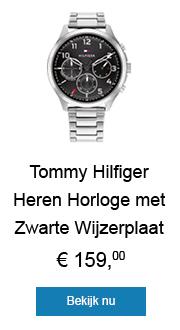 Tommy Hilfiger Heren Horloge met Zwarte Wijzerplaat
