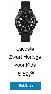 Zwart Horloge voor Kids met Silicone Horlogeband van Lacoste