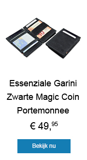 Carbon Zwarte Magic Coin Wallet Portemonnee van Essenziale Garzini