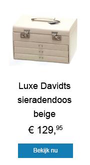 Luxe DAVIDTS sieradendoos beige