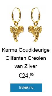 Verras iemand met deze stijlvolle goudkleurige olifanten creolen van zilver!