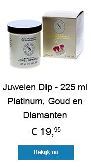 Juwelen Dip - 225 ml Platium, Goud en Diamanten