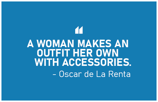A WOMAN MAKES AN OUTFIT HER OWN WITH ACCESSORIES - Oscar de La Renta