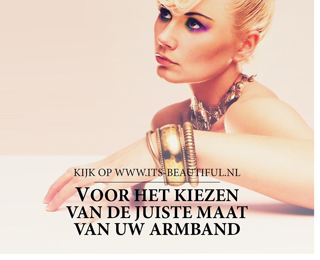 Kijk op www.its-beautiful.nl voor het kiezen van de juiste maat van uw armband.
