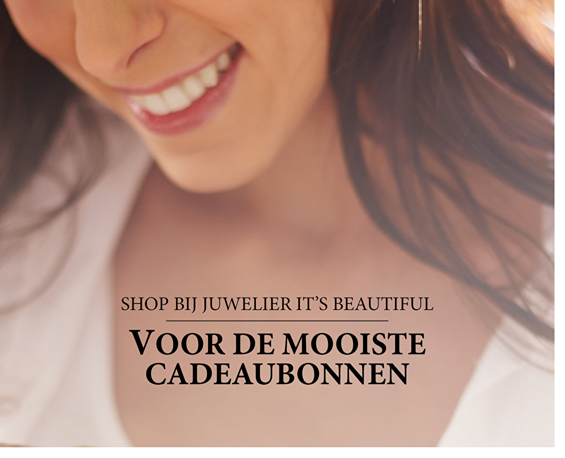 Shop bij juwelier It's Beautiful voor de mooiste cadeaubonnen.