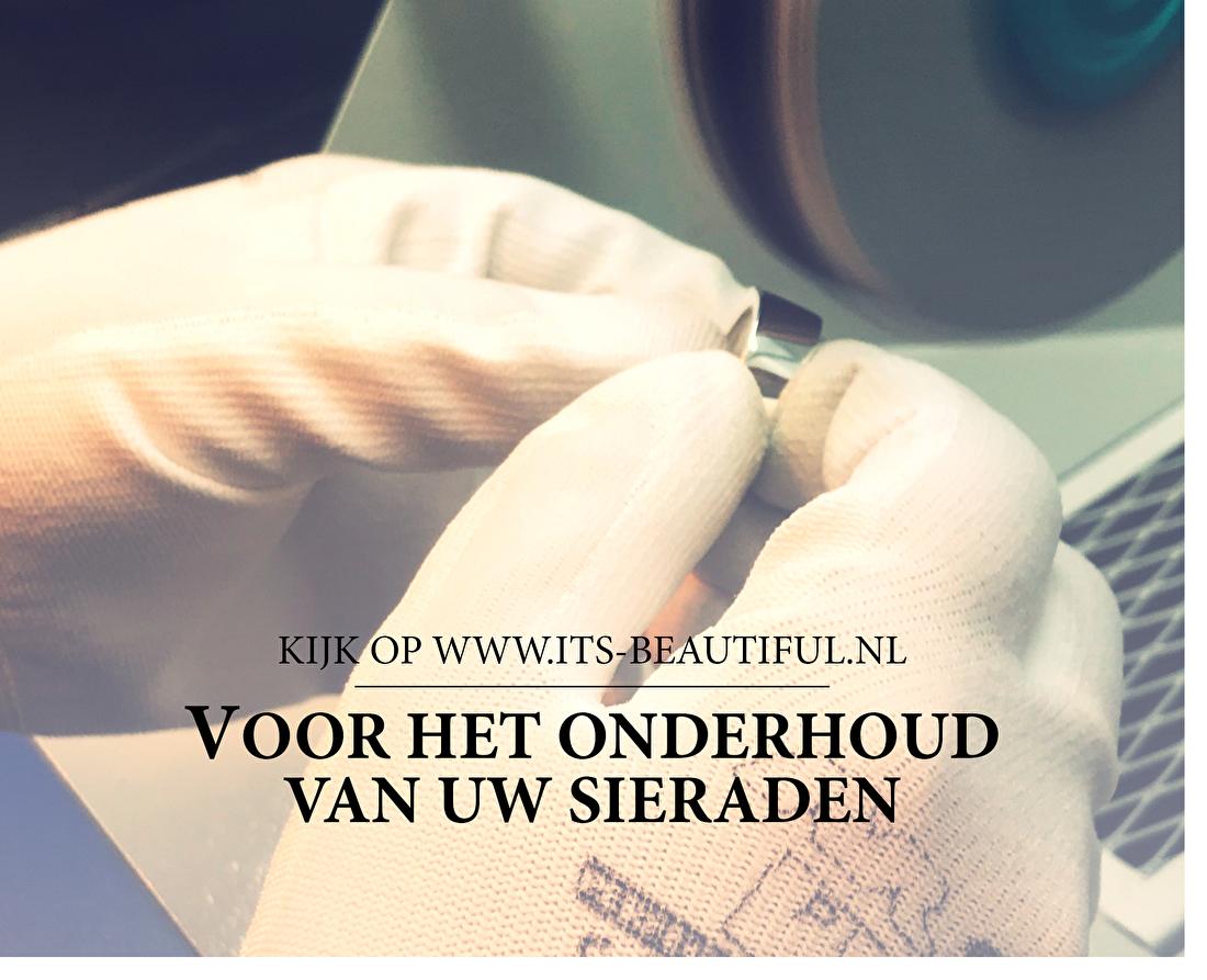 Kijk op www.its-beautiful.nl voor het onderhoud van uw sieraden