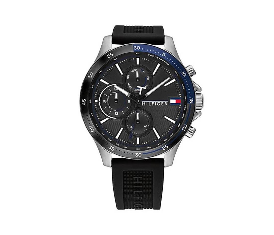 Horloge met Siliconen Horlogeband van Tommy Hilfiger TH1791724