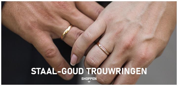 TSTAAL-GOUD TROUWRINGEN SHOPPEN >