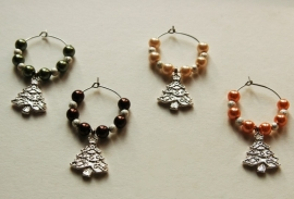Kerst-winecharms in chique kleurstelling (WCT-013)