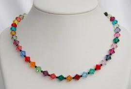 Multicolor Swarovski bicones (SW-010)