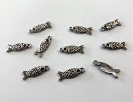 Bedels: visjes in oud-zilverkleur ((M-040)