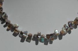 Ketting van parelmoer schelp in natuurtinten (KS-005)