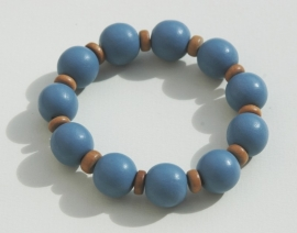 Armband in terughoudend blauw (ABH-009)