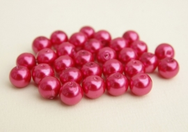 Glasparels in roze-rood, 8 mm (PH-178-PH)