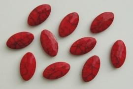 Rood plat ovaal met grijze marmering (AC-085-PH)