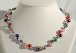 Multicolor glasparelketting, absolute topper  (DD-01)